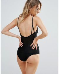 Y.A.S - Black Sheer Dot Body - Lyst