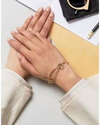 Whistles - Metallic Twist And Hook Wire Bangle - Lyst