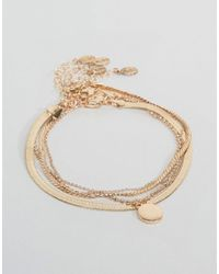 ALDO - Metallic Gold Stacking Anklets - Lyst