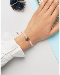 Juicy Couture - Pink Heart Friendship Bracelet - Lyst