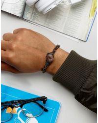 Classics 77 | Brown Leather Bracelet With Antique Copper Button for Men | Lyst