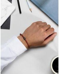 Seven London - Leather Plaited Bracelet In Brown for Men - Lyst