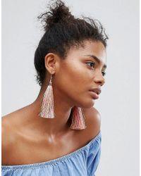 New Look - Multicolor Tassle Earrings - Lyst