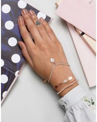 ALDO - Metallic Leaf Stacking Braclets - Lyst