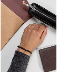 Jack & Jones - Jacbob Beaded Bracelet In Black for Men - Lyst
