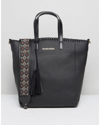 Silvian Heach - Black Tote Bag With Embroidered Strap - Lyst
