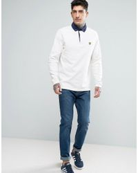 Lyle & Scott - White Long Sleeve Rugby Top for Men - Lyst