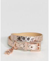 Ted Baker - Metallic Double Wrap Robot Charm Bracelet - Lyst