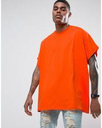 ASOS | Extreme Oversized T-shirt In Orange for Men | Lyst