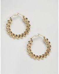ASOS - Metallic Limited Edition Metal Coiled Hoop Earrings - Lyst