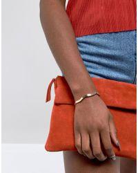 ASOS - Metallic Limited Edition Fine Swirl Cuff Bracelet - Lyst