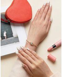 ASOS - Metallic Open Eye Cuff Bracelet - Lyst
