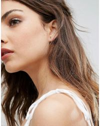 Orelia - Metallic Gold Plated Crystal Spike Stud Earring - Lyst
