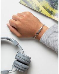 Emporio Armani - Metallic Chain Bracelet In Silver - Lyst