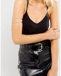 ASOS - Metallic Pack Of 2 Fine Arm Cuffs - Lyst