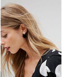 ASOS | Metallic Furry Heart Drop Earrings | Lyst
