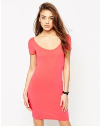 ASOS - Pink Scoop Front And Back Bodycon Mini Dress - Lyst