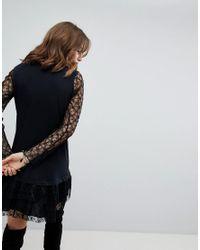 Anna Sui - Black Exclusive Lace Dress - Lyst