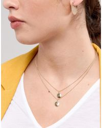 Monki - Metallic Girl Squad Necklace - Lyst