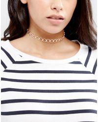 ASOS | Multicolor Open Circle Choker Necklace | Lyst