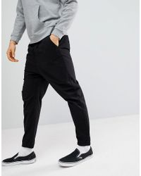 ASOS - Design Drop Crotch Woven Joggers In Black for Men - Lyst