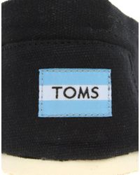 TOMS | Yellow Classic Canvas Black Flat Shoes | Lyst