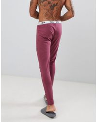 ASOS - Red meggings In Burgundy With Branded Waistband for Men - Lyst