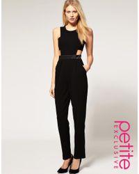 ASOS | Black Exclusive Cut Out Side Jumpsuit | Lyst