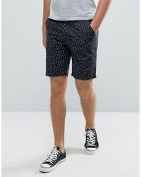 D-Struct - Blue Spot Print Shorts for Men - Lyst