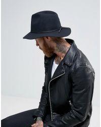 Brixton - Black Wesley Fedora Hat for Men - Lyst