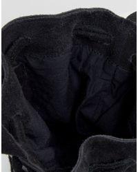 ASOS - Black Suede Duffle Bag With Western Metal Trims - Lyst