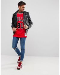 Mitchell & Ness - Nba Chicago Bulls Dennis Rodman Swingman Vest In Red for Men - Lyst