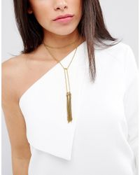 Vanessa Mooney - Metallic Tassel Bolo Necklace - Lyst