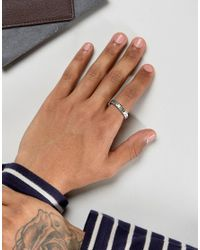 Icon Brand - Metallic Faceted Band Ring In Silver for Men - Lyst