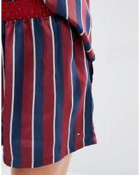 Tommy Hilfiger - Red Silky Boxer Pyjama Shorts - Lyst