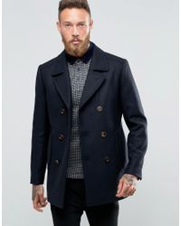 2a44320b4a61db Lyst - Ted Baker Peacoat in Blue for Men
