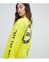 28619fd6de Vans Exclusive To Asos Oversized Long Sleeve T-shirt In Yellow in ...