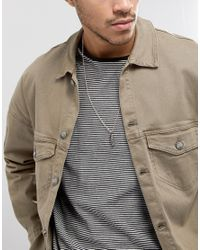 Icon Brand - Metallic Feather Pendant Necklace In Rose Gold Exclusive To Asos for Men - Lyst
