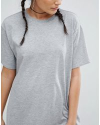 ASOS - Gray Oversized Drapey T-shirt - Lyst