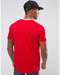 Hype - T-shirt In Red With Taping for Men - Lyst