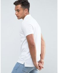 Tommy Hilfiger - Luxury Pique Polo Tipped Slim Fit In White for Men - Lyst