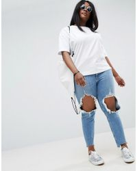 ASOS - White Top With Toggle Back Detail - Lyst