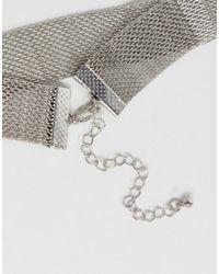 Pieces - Metallic Metal Choker - Lyst