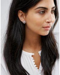 Ted Baker Metallic Seraa Crystal Daisy Lace Stud Earrings