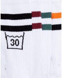 ASOS - White Sports Style Socks With Take Care Design 5 Pack for Men - Lyst