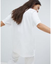 Converse - Star Chevron World Logo T Shirt In White - Lyst