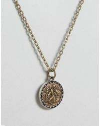 Icon Brand - Metallic Pendant Necklace In Gold for Men - Lyst