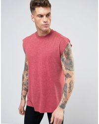 Another Influence - Red Sleevless T-shirt for Men - Lyst
