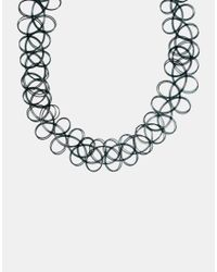 ASOS - Black '90s Tattoo Choker Necklace - Lyst
