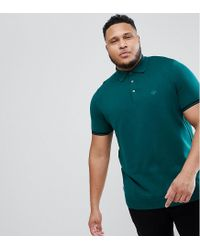 River Island Plus Slim Fit Polo In Green for men